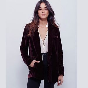 Free People | Yesterdays Muse Velvet Blazer Jacket
